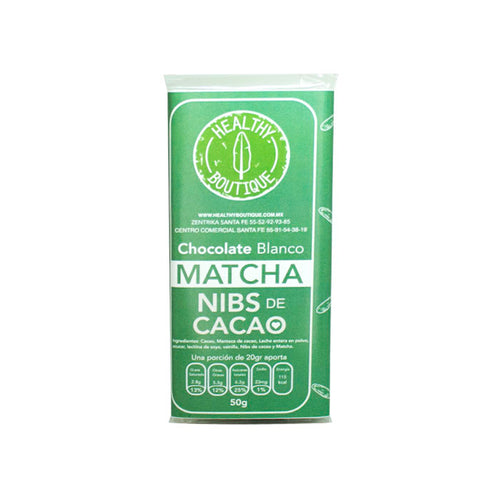 CHOCOLATE BLANCO C/MATCHA 50GR