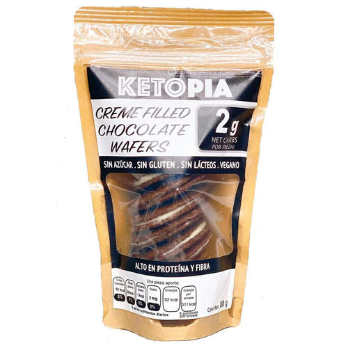 KETOPIA CREME FILLED CHOCOLATE WAFERS