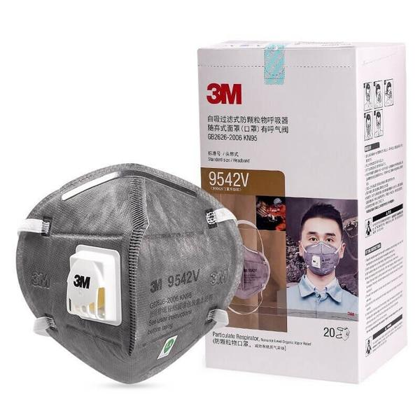 3M 9042V Respirator Activated Carbon Masks with Exhalation Valve