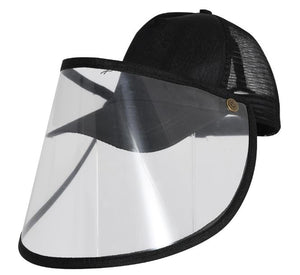 Cap with Plastic Face Shield Anti Splash Protection