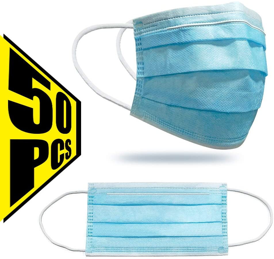 3 PLY Disposable Face Mask - 50 PACK
