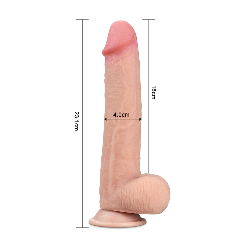 8'' SLIDING SKIN DUAL LAYER DONG FLESH