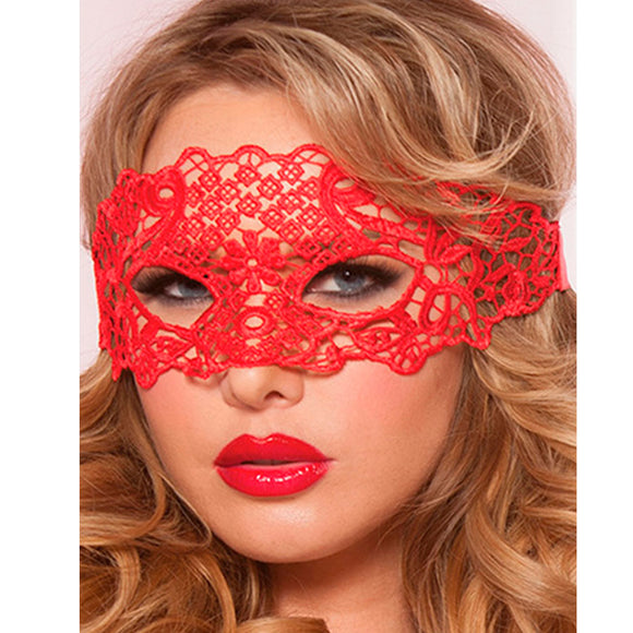 LUXURIOUS RED LACE EYE MASK