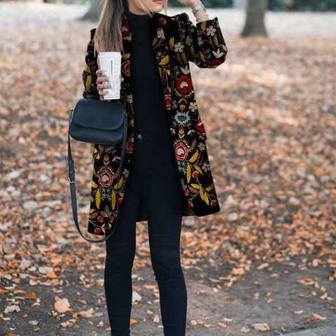 Autumn And Winter Fashion Printed Long-Sleeved Blazers