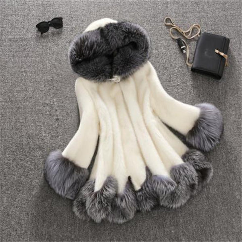 Fashion Elegance Warm Fur Coat