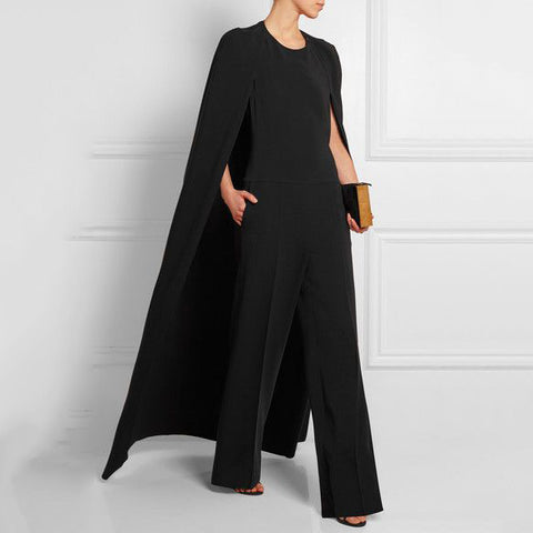 Women's fashion personality cloak jumpsuit