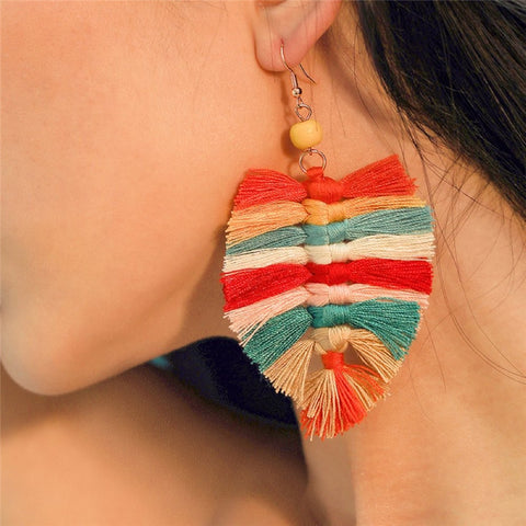 Fashion Bohemian Ethnic Tassel Earrings