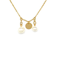 Load image into Gallery viewer, Two Pearls Chain Necklace