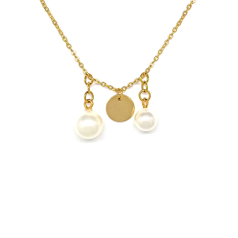 Two Pearls Chain Necklace