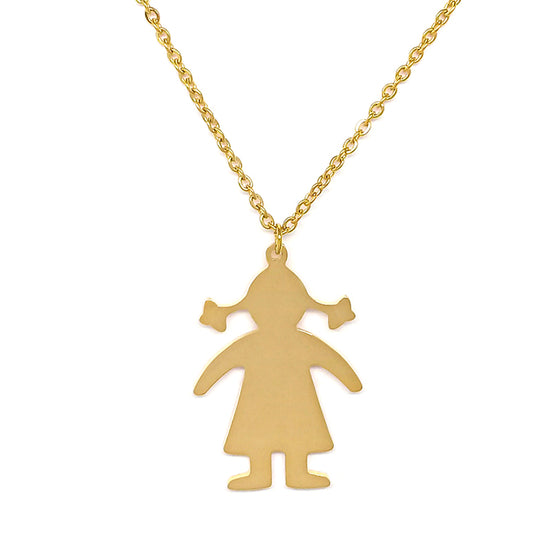 A Girl Gold Necklace