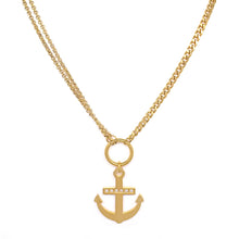 Load image into Gallery viewer, Gold Anchor Necklace