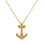 Gold Casual Anchor Necklace