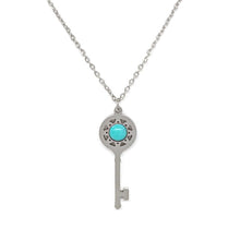 Load image into Gallery viewer, Turquoise Key Necklace