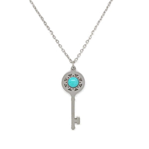 Turquoise Key Necklace