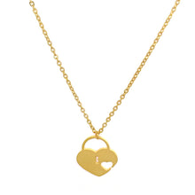 Load image into Gallery viewer, Lock Heart Necklace