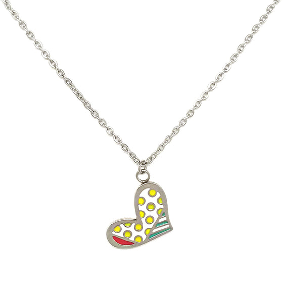 Multicolor Heart Necklace