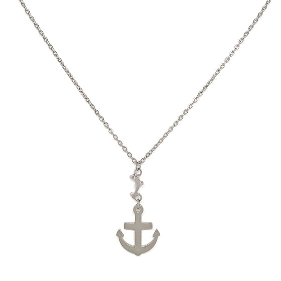 Small Silver Anchor Necklace
