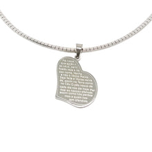 "Load image into Gallery viewer, Omega with Heart ""Our Father"" Necklace"