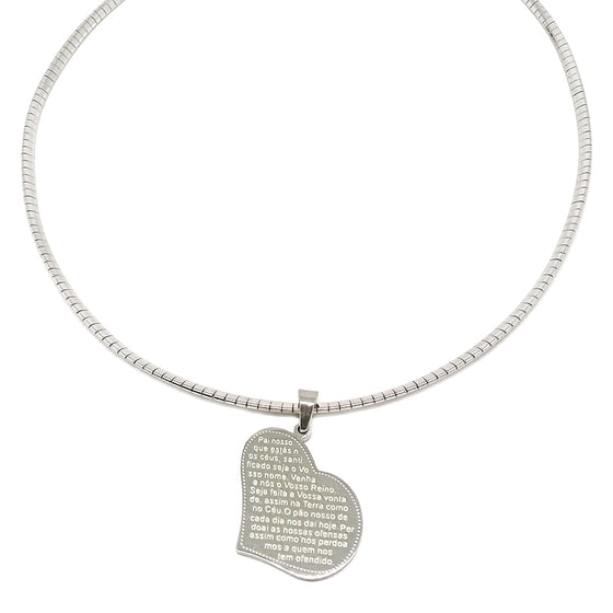 "Omega with Heart ""Our Father"" Necklace"