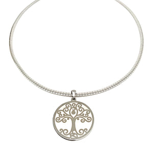 Omega Chain with Tree of Life Necklace