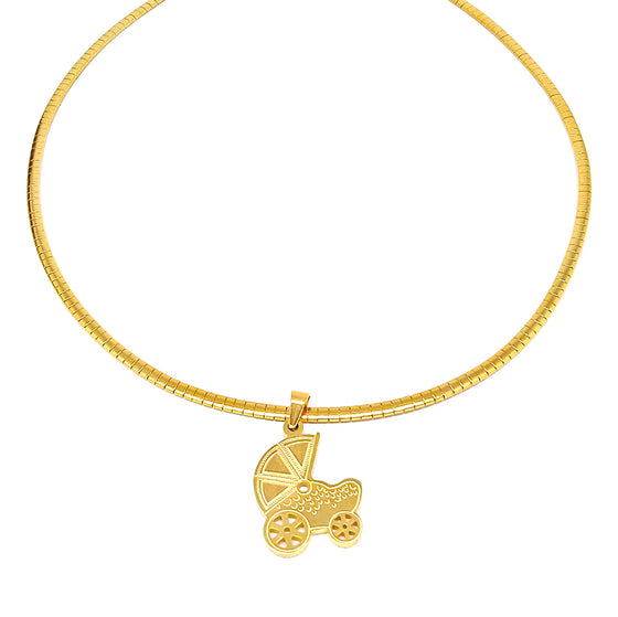 Gold Omega Stroller Necklace