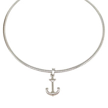 Load image into Gallery viewer, Silver Anchor Omega Necklace