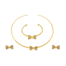 Load image into Gallery viewer, Fabulous Gold Bow Set