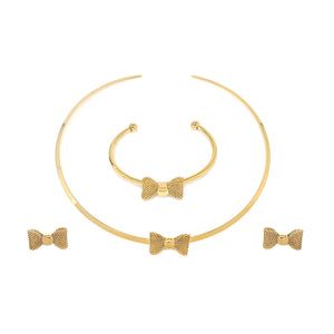 Fabulous Gold Bow Set