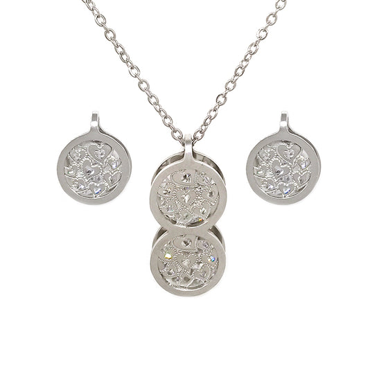 Silver Round Shape Set