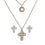 Stone Silver Cross Set