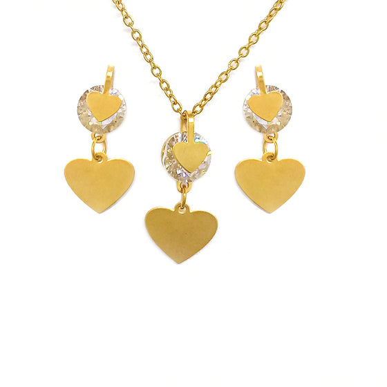 Gold Dancing Hearts Set