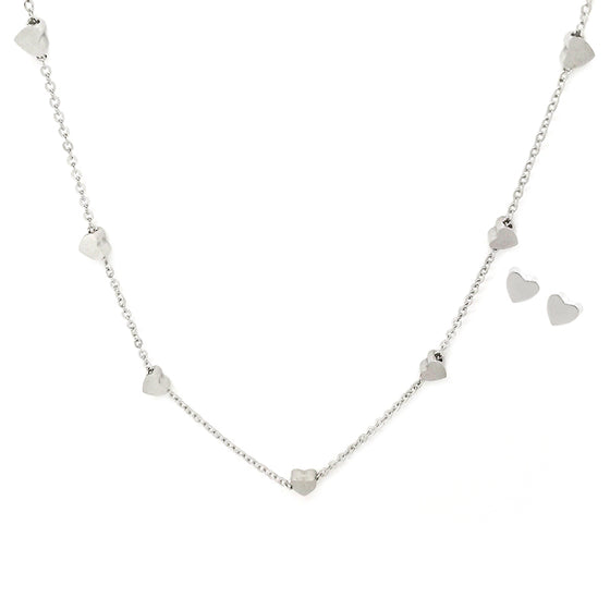 Heart Chain with Earring Set