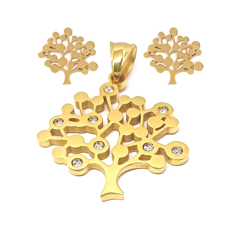 Elegant Tree of Life with Stones Set