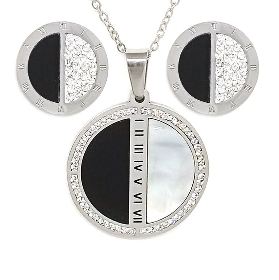 Black & White Roman Numerals Set