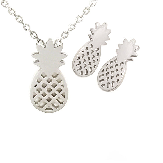Silver Pineapple Set