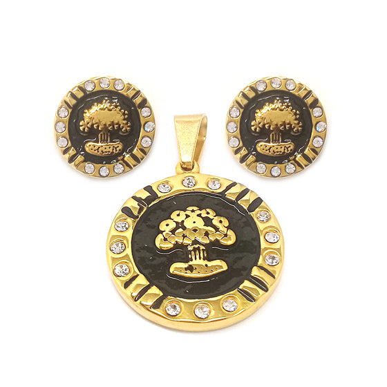 Black Gold Tree of Life Set