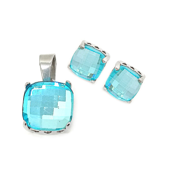 Elegant Blue Stone Set