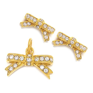 Gold Bow with Stones Set