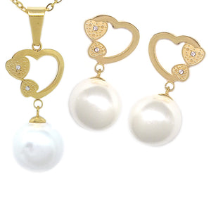 Heart with Pearls Set