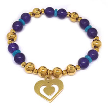 Load image into Gallery viewer, Stretch Bracelet with Heart