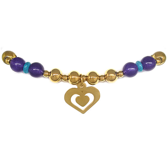 Stretch Bracelet with Heart