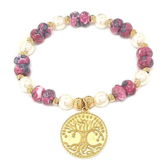 Stretch Tree of Life Beaded Bracelet