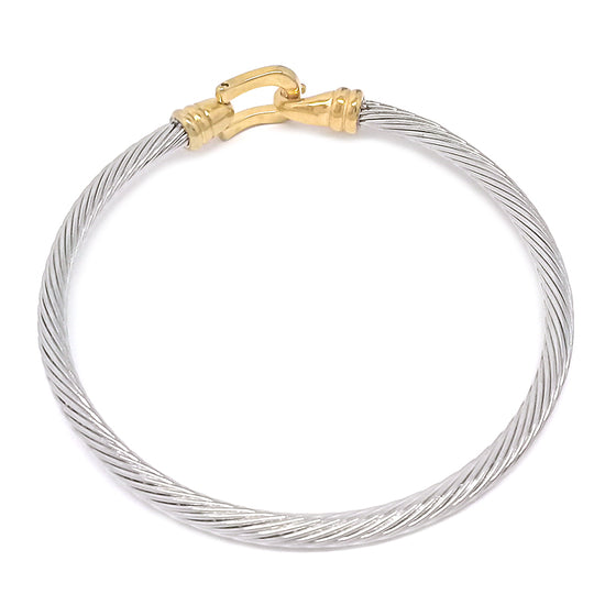 Two Tone Cable Bracelet