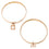 Two Rose Gold Bangle with Charm (Assorted Charm)