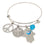 Blue Bracelet with Charms