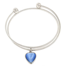 Load image into Gallery viewer, Blue Heart Bracelet