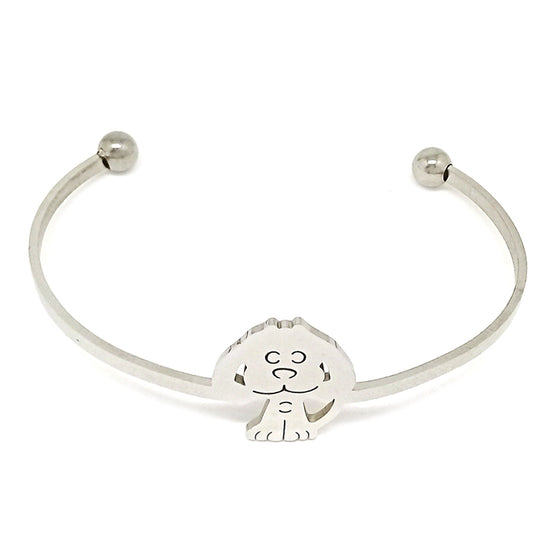 Dog Lovers Open Bracelet