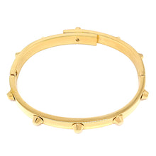 Load image into Gallery viewer, Rivet Gold Bangle