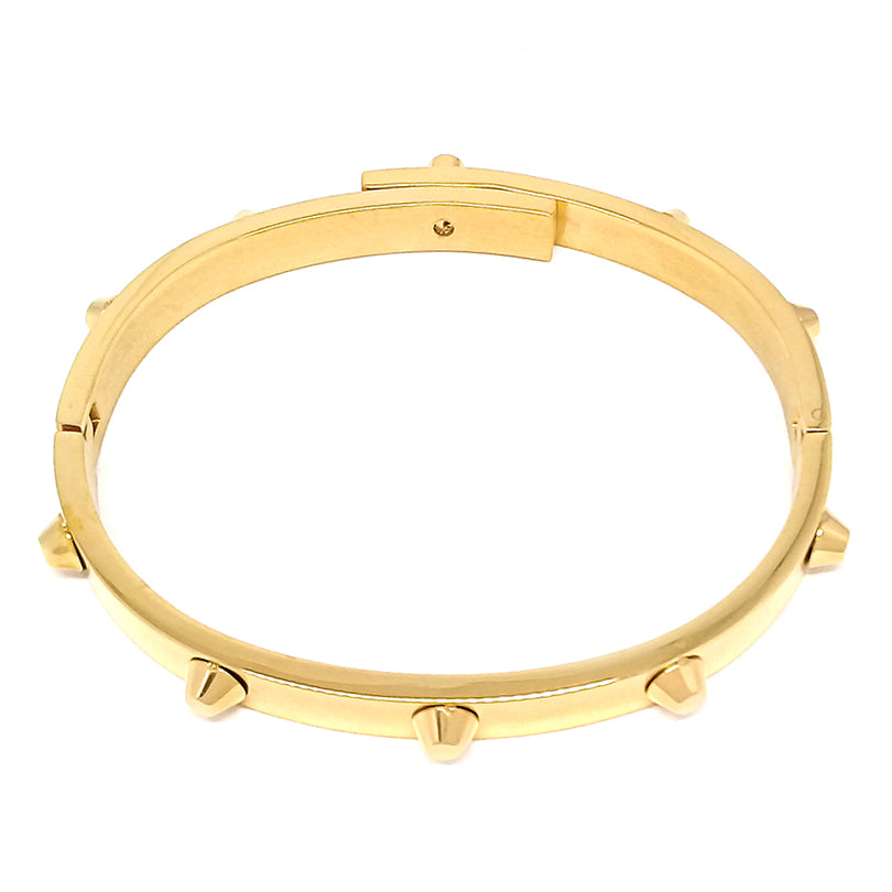 Rivet Gold Bangle