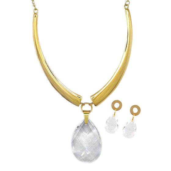 Gold Crystal Drop Set